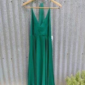 Kimchi Blue Emerald Handkerchief Dress
